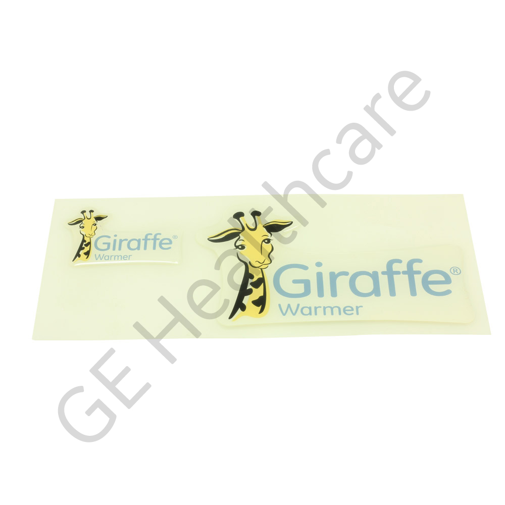 Sticker Label Set Branding Giraffe® Warmer PMS Cool Gray 1C